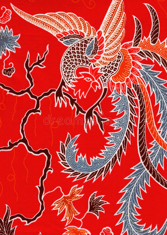 Vogelmuster der chinesischen Art. stock abbildung