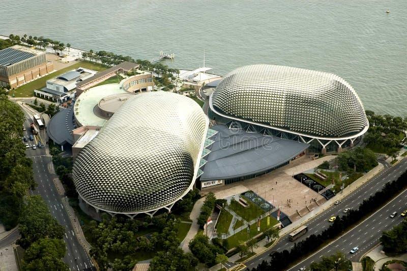 Download Vogelperspectief Van Singapore Stock Afbeelding - Afbeelding bestaande uit district, wolken: 126319