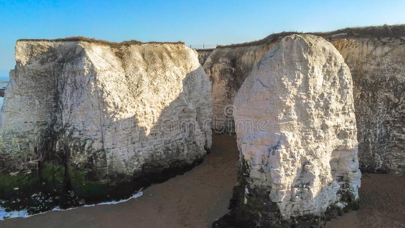 Vogelperspektive über Botanik-Bucht in Kent stockbild