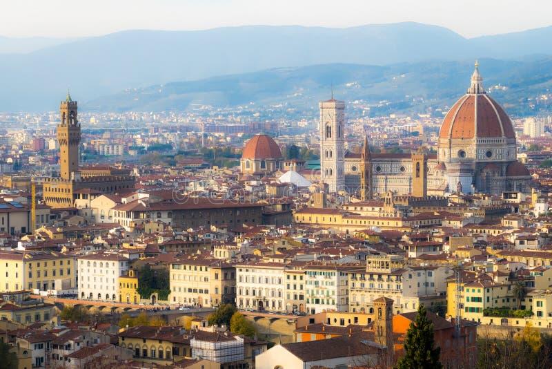 Vogelperspektive über der historischen Stadt von Florenz, Toskana, Italien lizenzfreie stockfotos