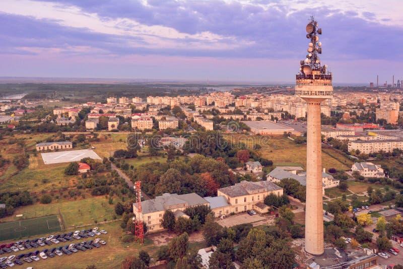Vogelperspektive über Galati-Stadt stockbild