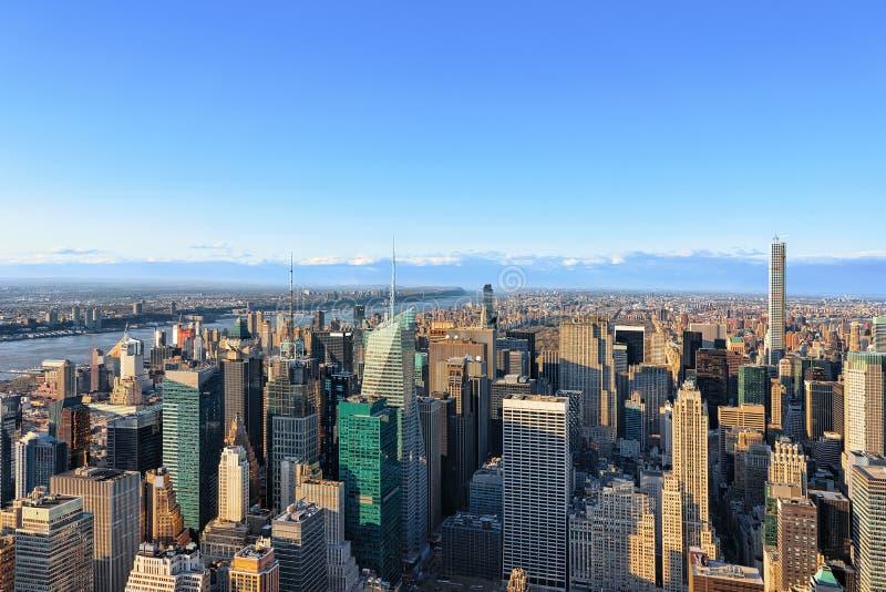 Vogelperspektive auf Midtown Manhattan NY Amerika stockbilder