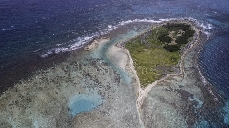 Vogelperspektive cankys los-roques Venezuela lizenzfreie stockfotos