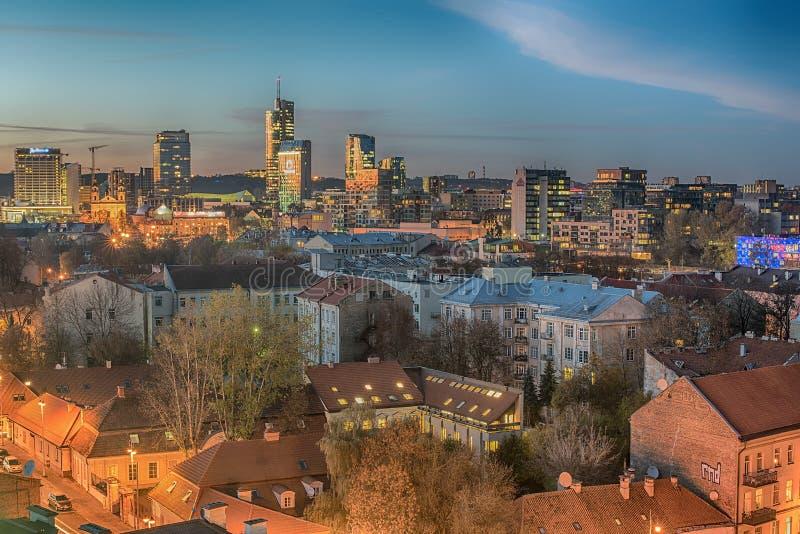 Vogelperspektive der alten Stadt in Vilnius, Litauen lizenzfreies stockfoto