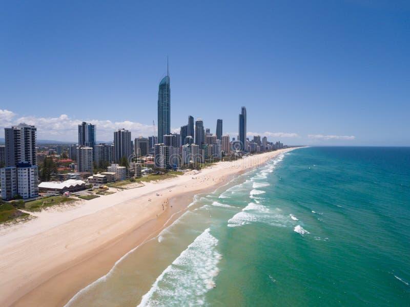 Vogelperspektive der australischen Stadt stockfotografie