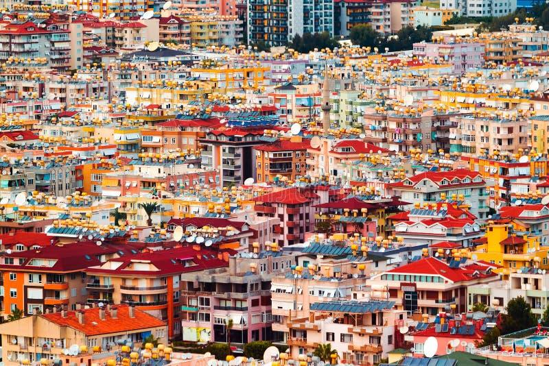 Vogelperspektive der bunten Häuser lizenzfreie stockfotografie