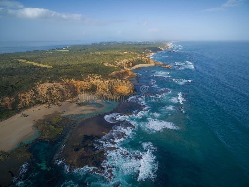 Vogelperspektive der Nationalparkküstenlinie Punkt Nepean lizenzfreies stockfoto