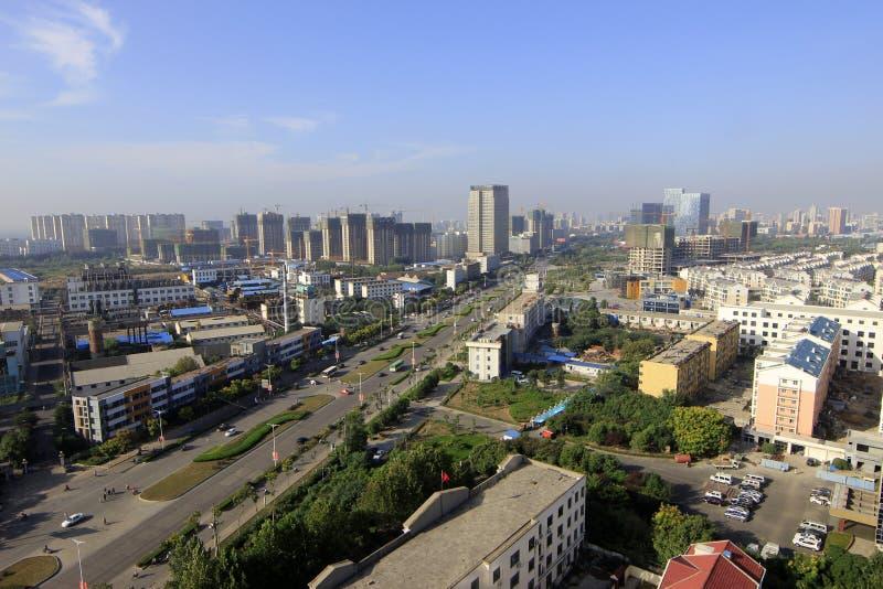 Vogelperspektive der Stadt stockfoto