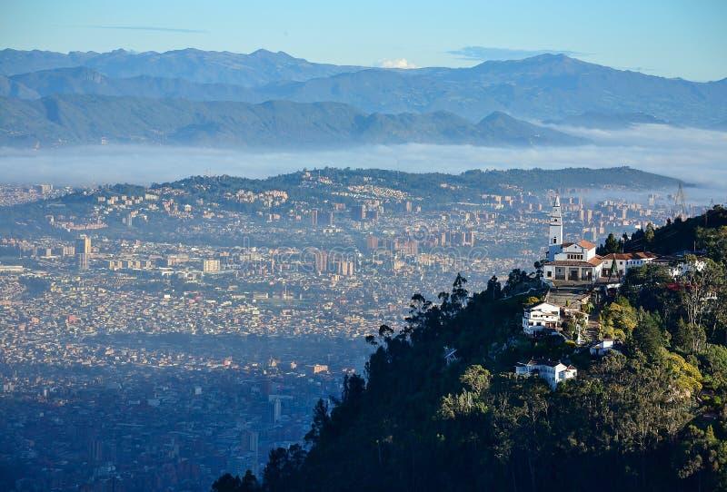 Vogelperspektive der Stadt von Bogota lizenzfreie stockfotos
