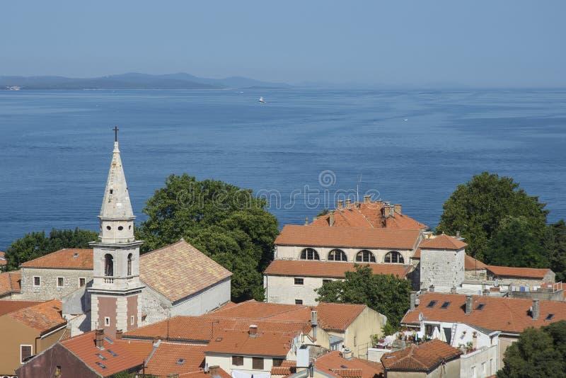 Vogelperspektive der Stadt Zadar, Kroatien lizenzfreies stockfoto