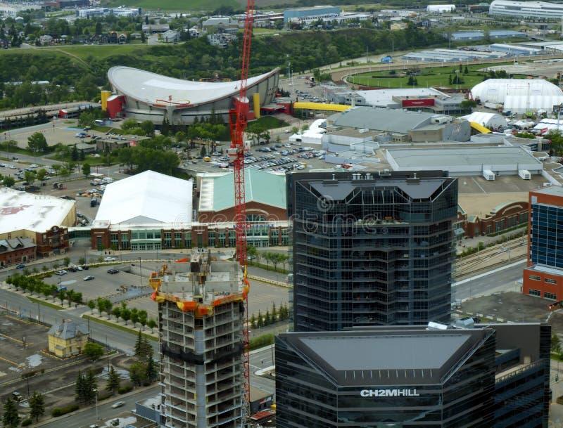 Vogelperspektive des Calgary-Ansturm-Bodens stockbild
