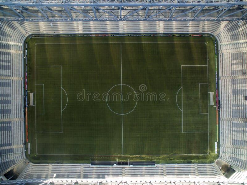Vogelperspektive des Fußballstadions des paranaense athletischen Clubs Arena-DA-baixada Curitiba, Paraná Juli 2017 stockfoto