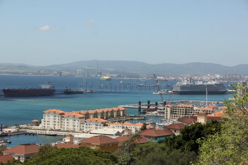 Vogelperspektive des Hafens lizenzfreies stockbild