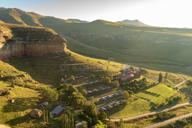Vogelperspektive des Hotels im Golden Gate-Hochland-Nationalpark stockbild