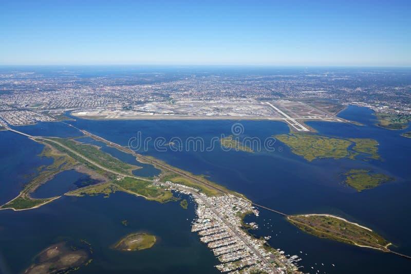 Vogelperspektive des Johns F Kennedy International Airport u. x28; JFK& x29; in New York stockfoto