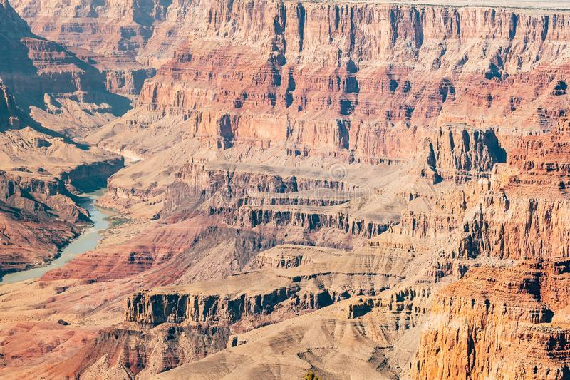 Vogelperspektive des Nationalparks des Grand Canyon, Arizona lizenzfreie stockfotos