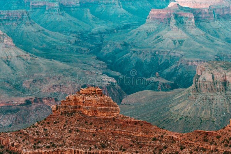 Vogelperspektive des Nationalparks des Grand Canyon, Arizona lizenzfreie stockbilder