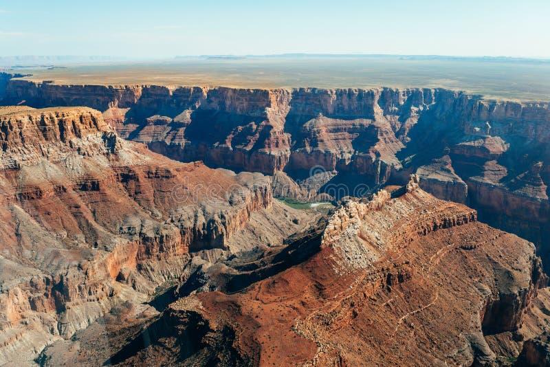 Vogelperspektive des Nationalparks des Grand Canyon, Arizona lizenzfreies stockfoto