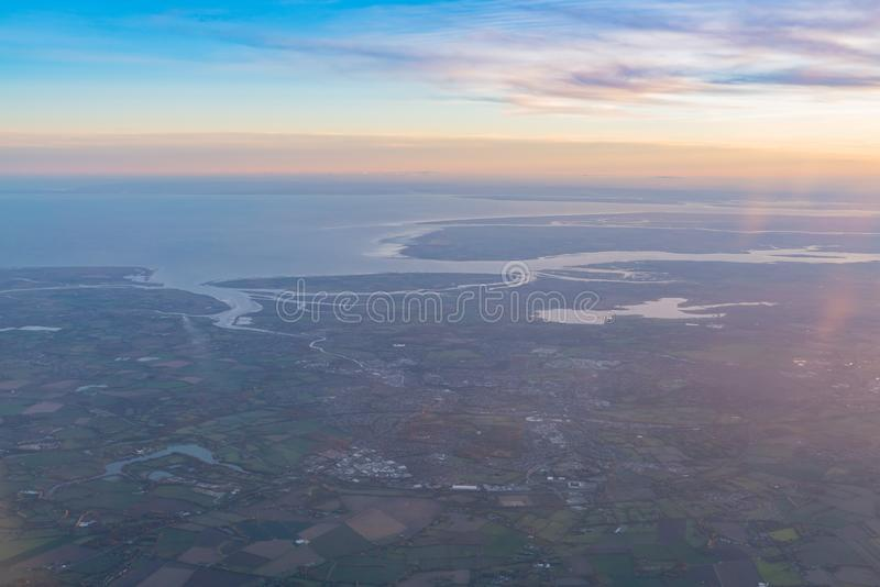 Vogelperspektive des schönen Colchester-Bereichs stockfoto
