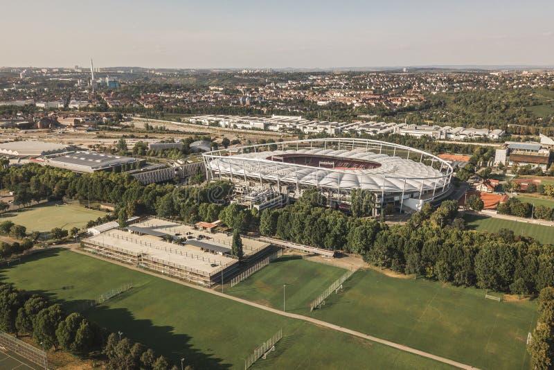 Vogelperspektive des Stadions Mercedes-Benz Arena in Stuttgart lizenzfreie stockfotografie