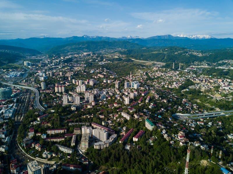 Vogelperspektive des Stadtzentrums lizenzfreies stockfoto