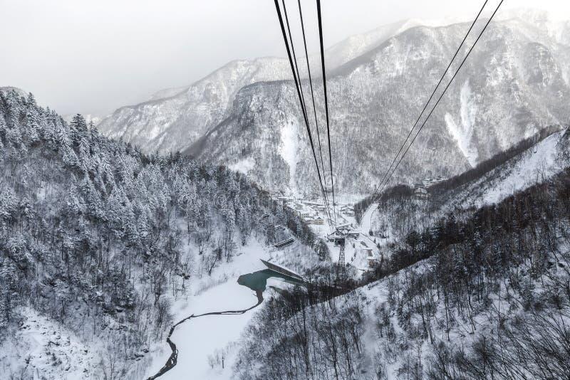 Vogelperspektive des Winters stockfotografie