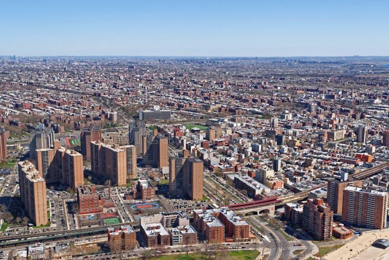 Vogelperspektive des Wohngebiets in NYC lizenzfreie stockfotos