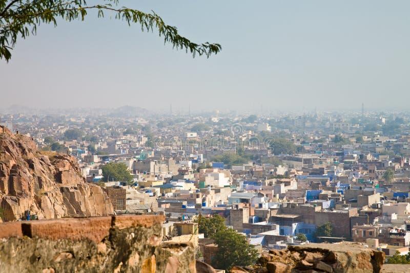 Vogelperspektive, Jodhpur, Indien lizenzfreie stockbilder