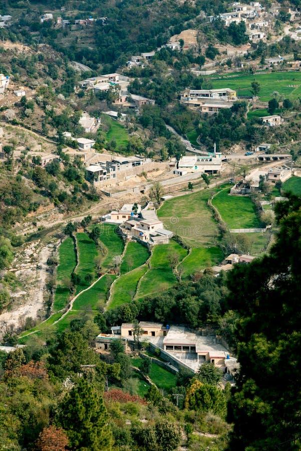 Vogelperspektive Margalla-Hügel Islamabad stockbild