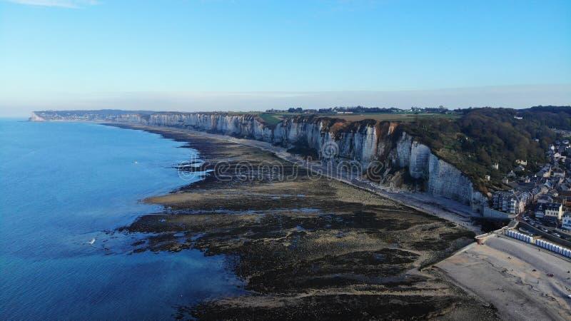 Vogelperspektive, Normandie-Küste, Frankreich lizenzfreie stockfotografie
