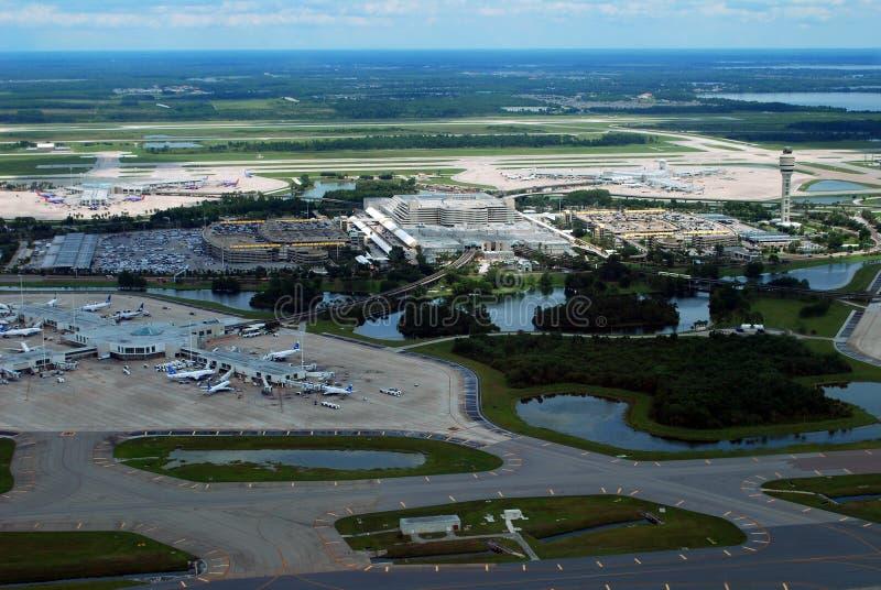 Vogelperspektive-Orlando International-Flughafen lizenzfreies stockfoto