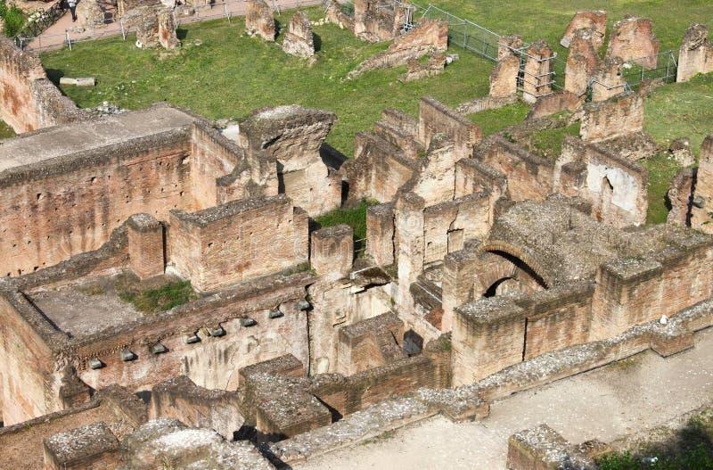 Vogelperspektive Roman Forums stockfoto