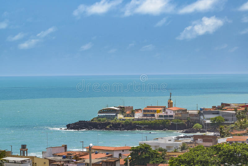 Vogelperspektive-Stadtbild Natal Brazil stockbild