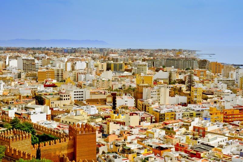 Vogelperspektive von Almeria, Spanien lizenzfreies stockbild