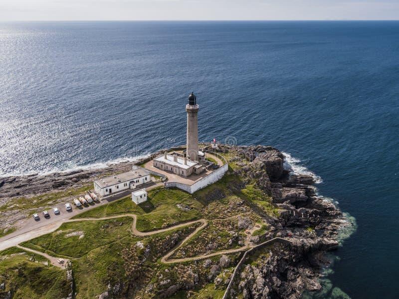 Vogelperspektive von Ardnamurchan-Leuchtturm lizenzfreies stockbild
