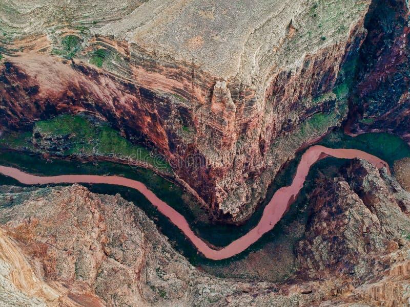 Vogelperspektive von Arizonas Little Colorado Schlucht stockfoto