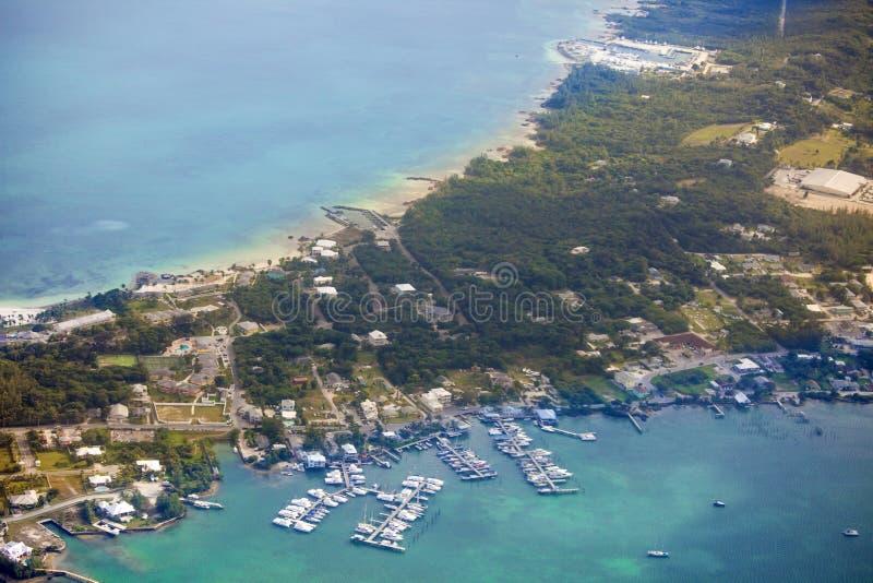 Vogelperspektive von Bahamas stockbild