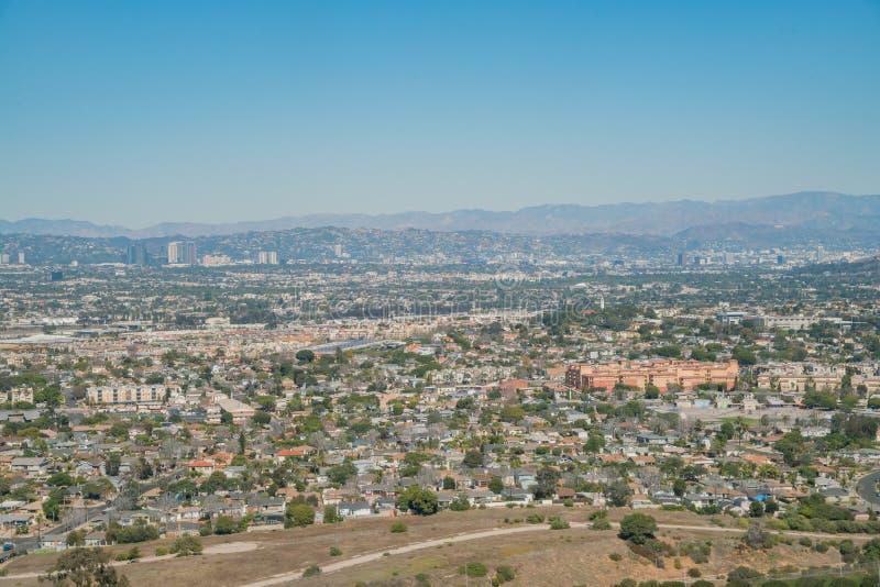 Vogelperspektive von Bereich Playa Del Rey lizenzfreie stockfotos