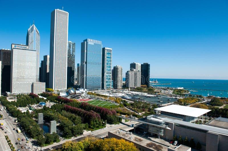 Vogelperspektive von Chicago lizenzfreie stockfotos