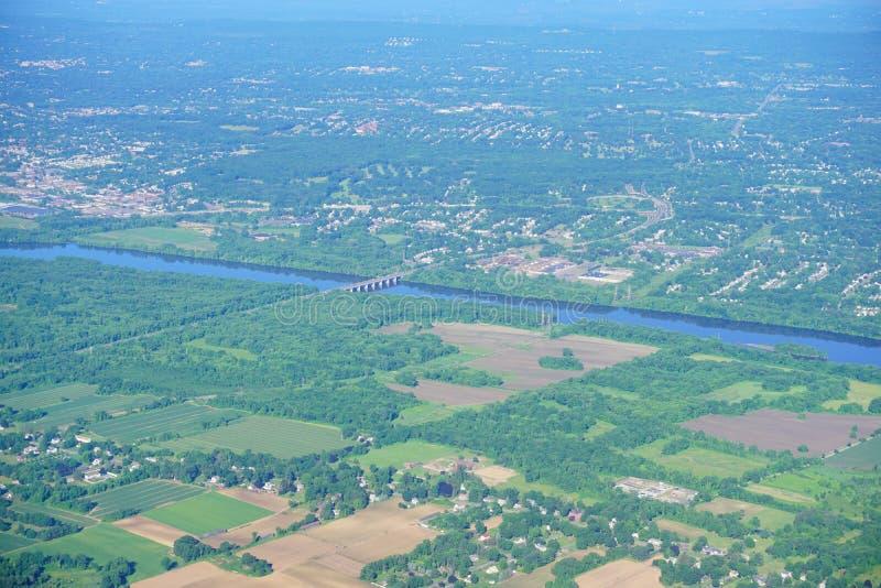 Vogelperspektive von Connecticut River lizenzfreie stockbilder
