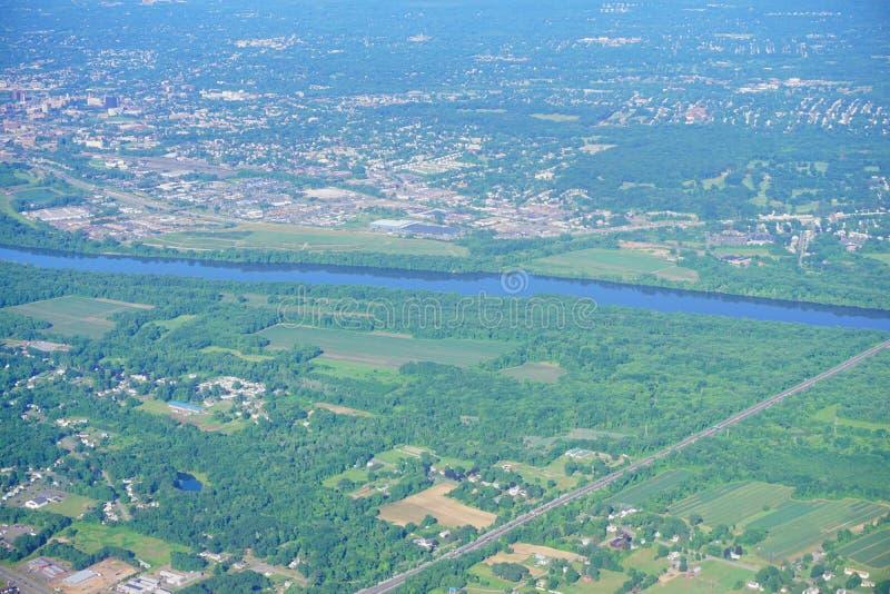 Vogelperspektive von Connecticut River lizenzfreies stockbild