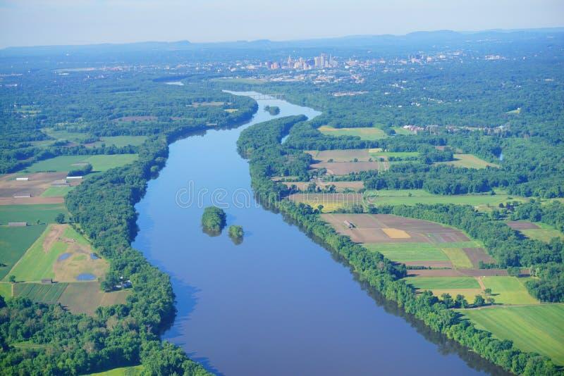 Vogelperspektive von Connecticut River stockfotos