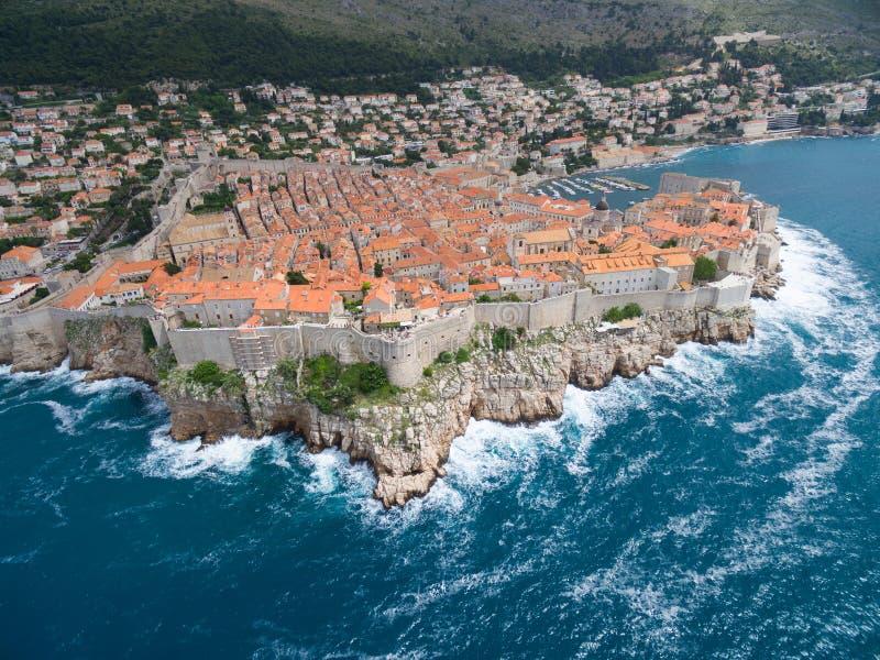Vogelperspektive von Dubrovnik, Kroatien lizenzfreies stockbild