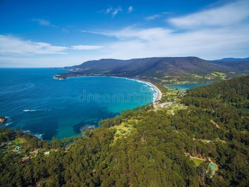 Vogelperspektive von Eaglehawk-Hals, Tasmanien lizenzfreie stockfotos