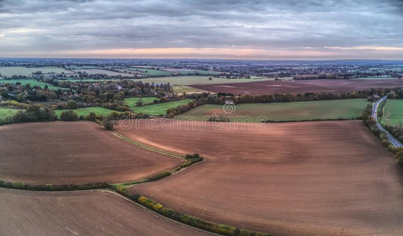 Vogelperspektive von Essex-Landschaft lizenzfreies stockbild