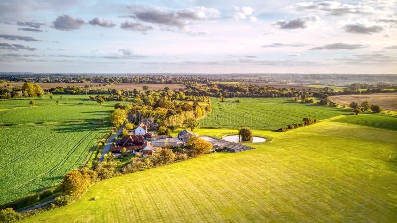 Vogelperspektive von Essex-Landschaft lizenzfreie stockfotos