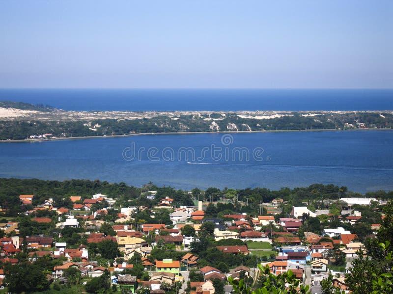 Vogelperspektive von Florianopolis - Brasilien stockbild
