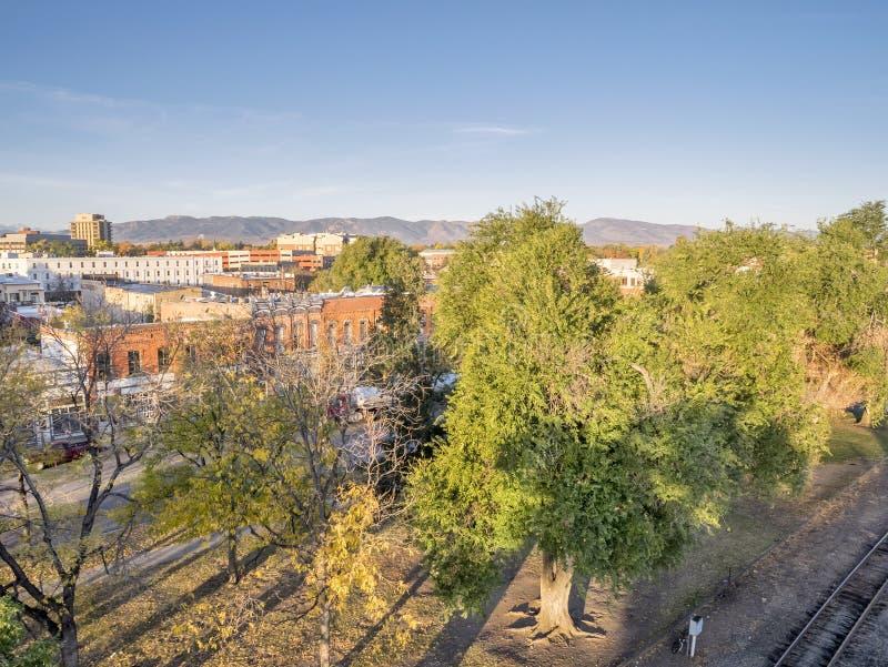 Vogelperspektive von Fort Collins stockfoto