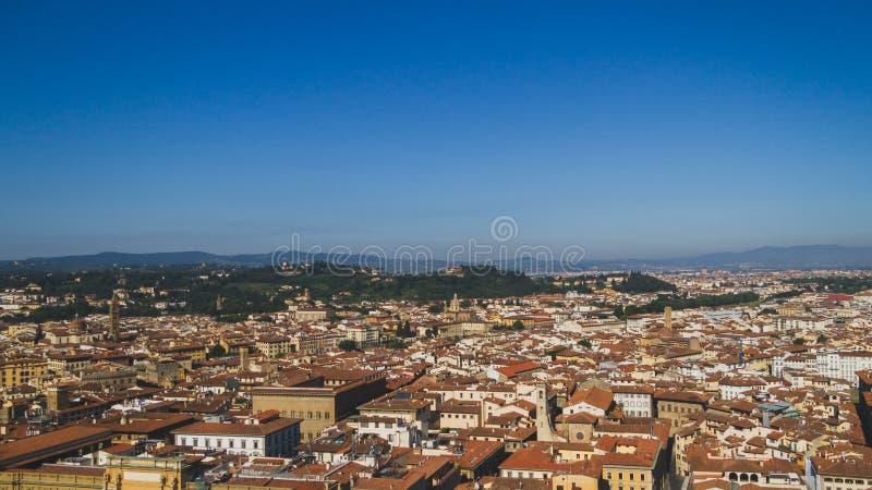 Vogelperspektive von Gebäuden und von Stadt von Florenz, Italien stockbild