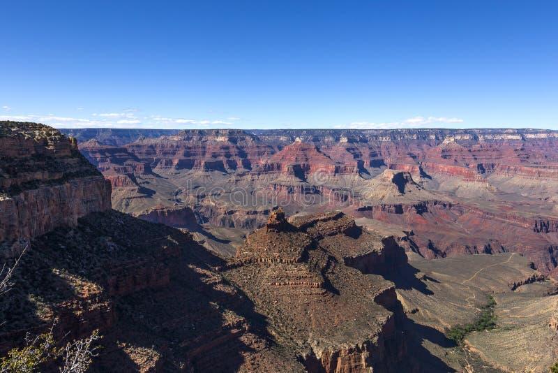 Vogelperspektive von Grand Canyon Colorados stockfotografie